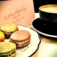 Photo taken at MacarOn Café by Stephanie M. on 11/10/2012