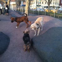 Photo taken at Chelsea Waterside Park Dog Run by Audrey S. on 4/9/2013