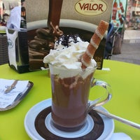 Photo taken at Chocolateria Valor Zaragoza by veronique t. on 6/22/2013
