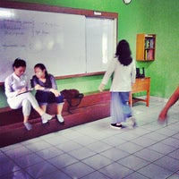 Photo taken at SMAN 46 Jakarta by Edrian Purnama S. on 2/22/2013