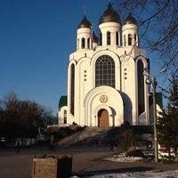 Photo taken at Кафедральный Собор Христа Спасителя by Zhanna N. on 3/15/2013