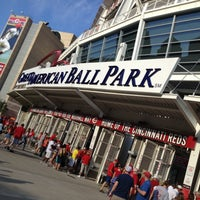 Photo taken at Great American Ball Park by Aaron S. on 6/14/2013