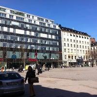 Photo taken at Östermalmstorg by Jacopo T. on 4/21/2013