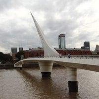 Photo taken at Puente de la Mujer by Carlos M. on 3/20/2013