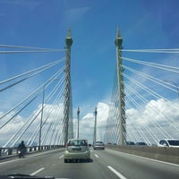 Photo taken at Penang Bridge by Liz K. on 6/1/2013