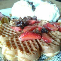 Photo taken at Stove Syndicate (Coffee & Waffle) by Idychan &. on 6/30/2015