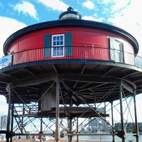 Photo taken at Seven Foot Knoll Lighthouse by Britt A. on 9/22/2013