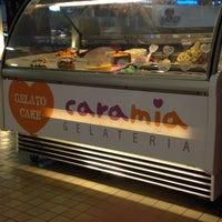 Photo taken at Cara Mia Gelateria by Lara Gisella D. on 2/27/2014