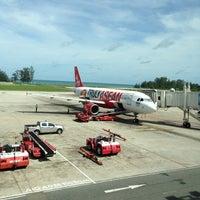 Photo taken at Phuket International Airport (HKT) by Pimm P. on 5/18/2013