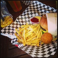 Photo taken at Bun Bun Gourmet Burger and Tea House by Angela C. on 1/19/2013