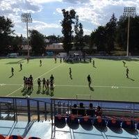 Photo taken at Estadio Panamericano de Hockey by Pepe L. on 3/28/2015