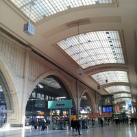 Photo taken at Leipzig Hauptbahnhof by Daniel E. on 3/16/2013