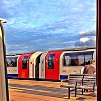 Photo taken at Perivale London Underground Station by Remi L. on 7/9/2014