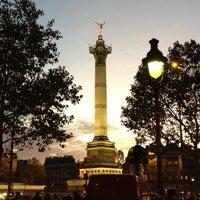 Photo taken at Place de la Bastille by soixante q. on 11/8/2012
