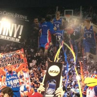 Photo taken at Allen Fieldhouse by Michelle M. on 2/23/2013