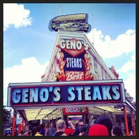 Photo taken at Geno's Steaks by Conrado V. on 7/6/2013