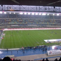 Photo taken at Stadio Marc'Antonio Bentegodi by marianna b. on 3/30/2013