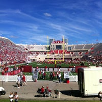 Photo taken at Memorial Stadium by Lisa G. on 9/14/2013