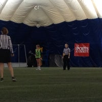 Photo taken at Sports Dome by Tricia E. on 12/7/2013