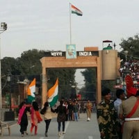 Photo taken at Wagah Border - India Pakistan Border by Lakshmi D. on 11/25/2015