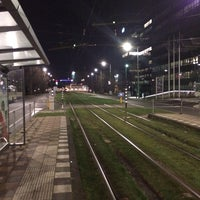 Photo taken at Tramhalte Station Zuid by Miss Nine on 2/18/2014