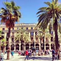 Photo taken at Plaça Reial by Zach L. on 4/30/2013