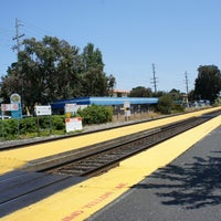 Photo taken at Broadway Caltrain Station by Masaru Y. on 7/20/2013