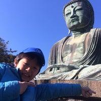 Photo taken at Great Buddha of Kamakura by junichi s. on 1/9/2016