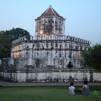 Photo taken at Santichai Prakan Park by Dukduy C. on 3/16/2013
