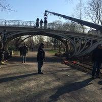 Photo taken at Central Park - Gothic Bridge by Nicole C. on 4/6/2016