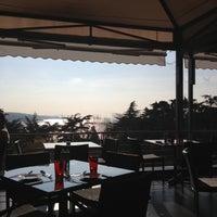 Photo taken at Cafe Swiss by Mina Sedef on 12/14/2012