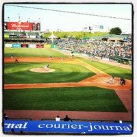 Photo taken at Louisville Slugger Field by Travel M. on 7/13/2013
