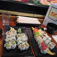 Photo taken at Geta Sushi by Emily D. on 10/25/2012