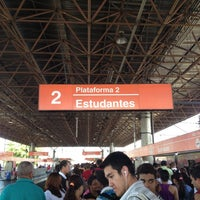 Photo taken at Estação Guaianases (CPTM) by Leandro A. on 11/23/2012