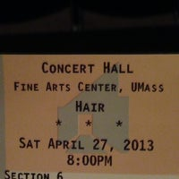 Photo taken at UMass Fine Arts Center by Krystyana G. on 4/27/2013