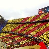 Photo taken at Camp Nou by Juanma on 10/27/2013