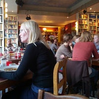 Photo taken at Goldmund Literaturcafe by Basak K. on 9/24/2012