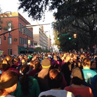 Photo taken at Rock n Roll Savannah Marathon Start by Mary F. on 11/10/2013