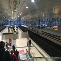 Photo taken at Frankfurt Airport Int'l Railway Station by Tobias K. on 3/3/2016