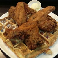 Photo taken at Dame's Chicken & Waffles by Russ C. on 1/30/2016