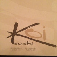 Photo taken at Koi Sushi by Annie V. on 4/11/2013