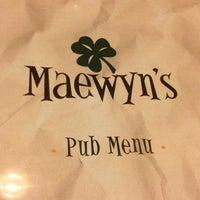 Photo taken at Maewyn's Irish Pub & Restaurant by Shane Z. on 11/2/2012