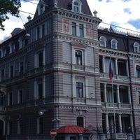 Photo taken at Krievijas vēstniecība | Посольство России by Manya on 6/7/2014