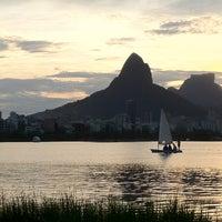 Photo taken at Lagoa Rodrigo de Freitas by Alexandre D. on 2/12/2013
