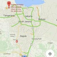 Photo taken at Terminal DAMRI Bandara Soekarno-Hatta by Nurlida P. on 12/25/2015