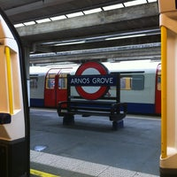 Photo taken at Arnos Grove London Underground Station by marco c. on 1/6/2013