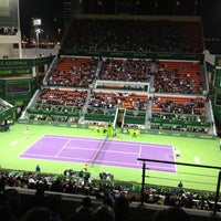 Photo taken at Qatar Tennis Federation by H Kemal E. on 1/4/2013