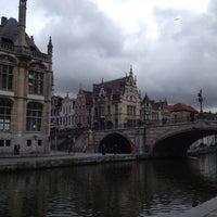 Photo taken at Sint-Michielsbrug by Jorge H. on 11/2/2012