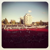 Photo taken at Roos Field by Lance K. on 10/20/2012