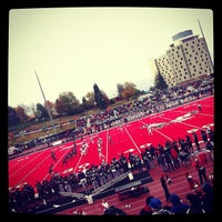 Photo taken at Roos Field by Lance K. on 11/3/2012